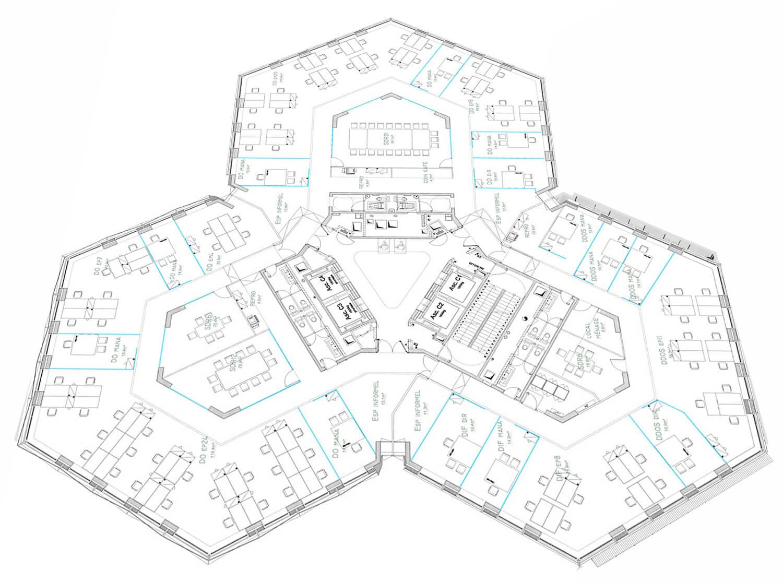 plan 3D Aménagement de bureaux clé en main