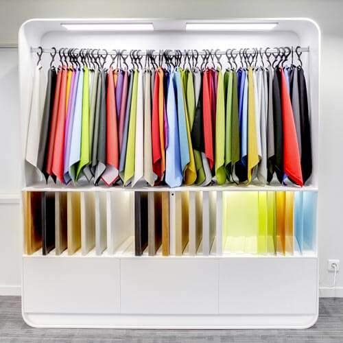 Nuancier couleurs et bois bureaux